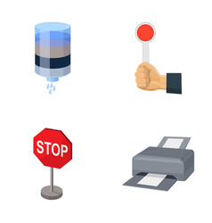 Water filter stop sign and other web icon in vector