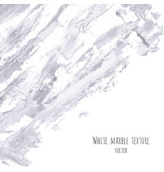 White gray marble watercolor texture vector