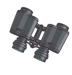 Pair of binoculars vector