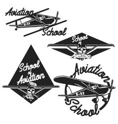 Vintage Aviation emblems vector image