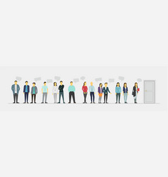 People stand in a queue vector