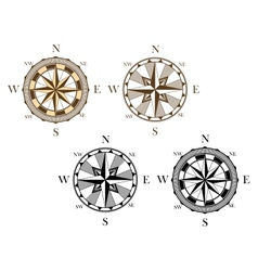 Ancient compass signs vector image
