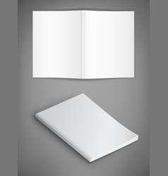 Mockup of magazine cover on gray background vector
