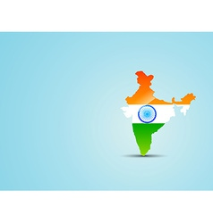 Map of india with indian flag vector
