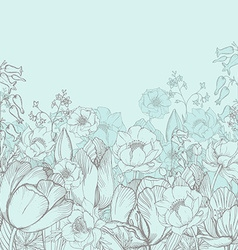 Elegance floral background with graphic spring vector