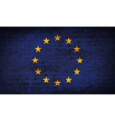Flags european union with dirty paper texture vector