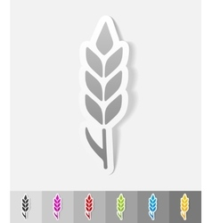 Realistic design element ear of wheat vector