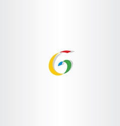 Colorful letter g spiral sign logo vector