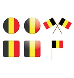 Badges with flag of belgium vector