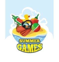 Toys for summer games vector