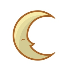 Cartoon moon icon night concept graphic vector