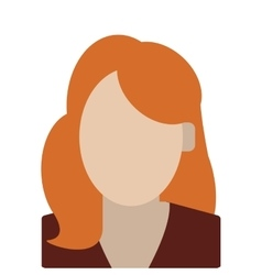 Red hair faceless woman portrait icon vector