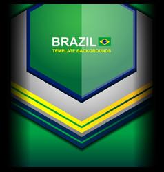 Banner brazil color geometric backgrounds vector