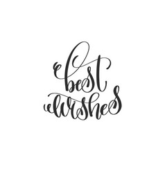 Best wishes - hand lettering inscription to winter vector