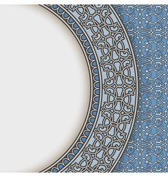 Blue china plate vector image