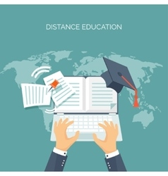 Book Education online vector image