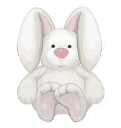 cute rabbit isolated vector image vector image