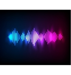 Digital glowing colorful Equalizer vector image