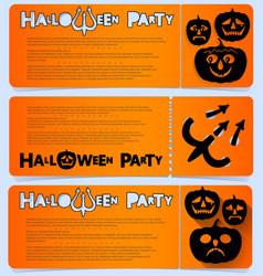 flyer invitation to celebrate halloween vector image