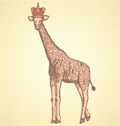 Giraffe crown vector