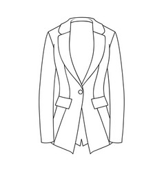 grey women s jacket with pockets work austere vector image vector image