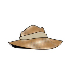 hat for men clothes costume halloween vector image
