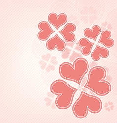 heart flower background vector image vector image