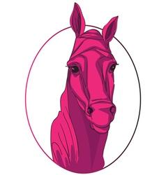 horse medallion vector image