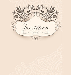 Invitation vintage template vector