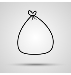 Money bag icon in line with shadow vector