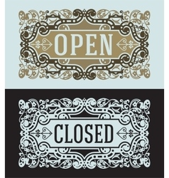 Open and Closed cards set vector image vector image