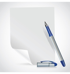 paper and pen vector image vector image