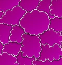 Paper magenta paper cloud background vector