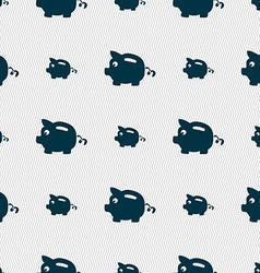 Piggy bank icon sign Seamless pattern with vector image