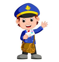 postman cartoon vector image