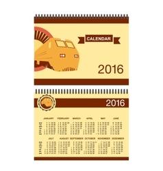 Rail road calendar vector