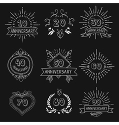 set of anniversary signs vector image vector image