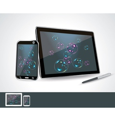 Set of blank generic tablet pc and smartphones vector image vector image