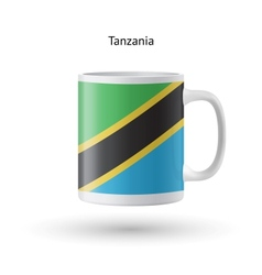 Tanzania flag souvenir mug on white background vector
