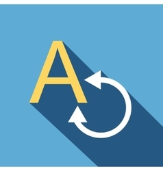 Translation icon flat style vector