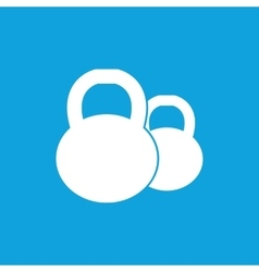 Two kettlebells icon simple vector