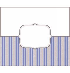 Vintage blue invitation card vector