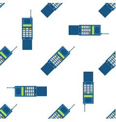 Vintage phones retro lod telephone seamless vector