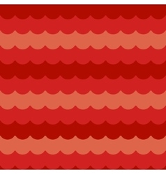 Waves background seamless red flat wave vector image vector image