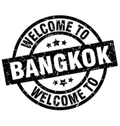 Welcome to bangkok black stamp vector