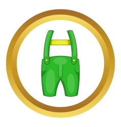Pants with suspenders icon vector
