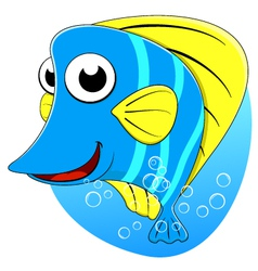 Cute tropical butterfly fish vector