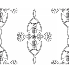 Black and white seamless geometric lace pattern vector image