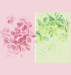 Orchids - beautiful pastel colored design vector