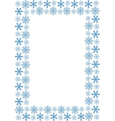 Frame with snowflakes vector